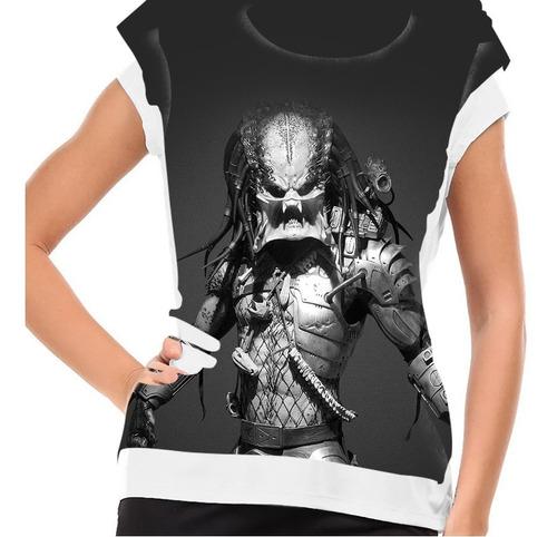 camiseta filme clássico predador baby look