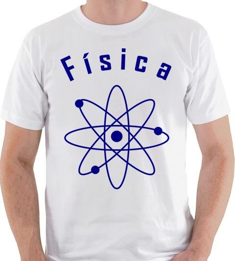eb39b3d87 Camiseta Física Curso Graduação Universitário Camisa Blusa - R  35 ...