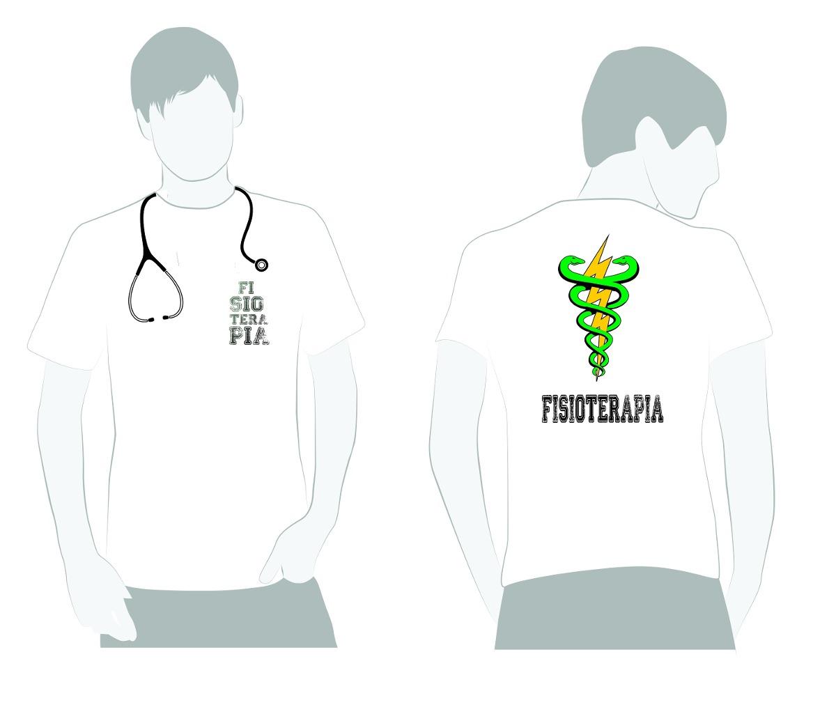 879f2c5693 Camiseta Fisioterapia Estetoscópio R  29 90 em Mercado Livre