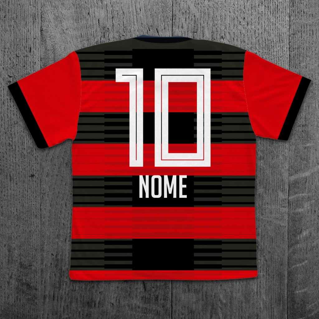 a0a8f9028a278 camiseta flamengo 2018 infantil personalizada com nome. Carregando zoom.
