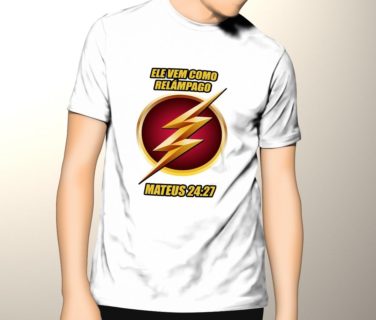 6bd19529fc Camiseta Flash Gospel Evangélica - R$ 29,99 em Mercado Livre
