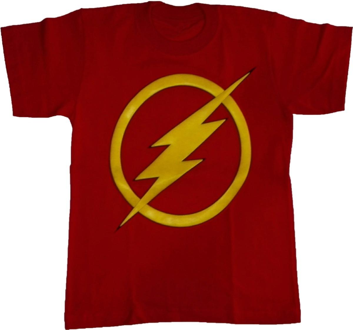 624ca11ea Camiseta Flash Niño Talla (2-16) Estampada Tienda Urbanoz -   19.950 ...