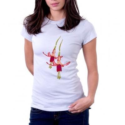 camiseta flor caída