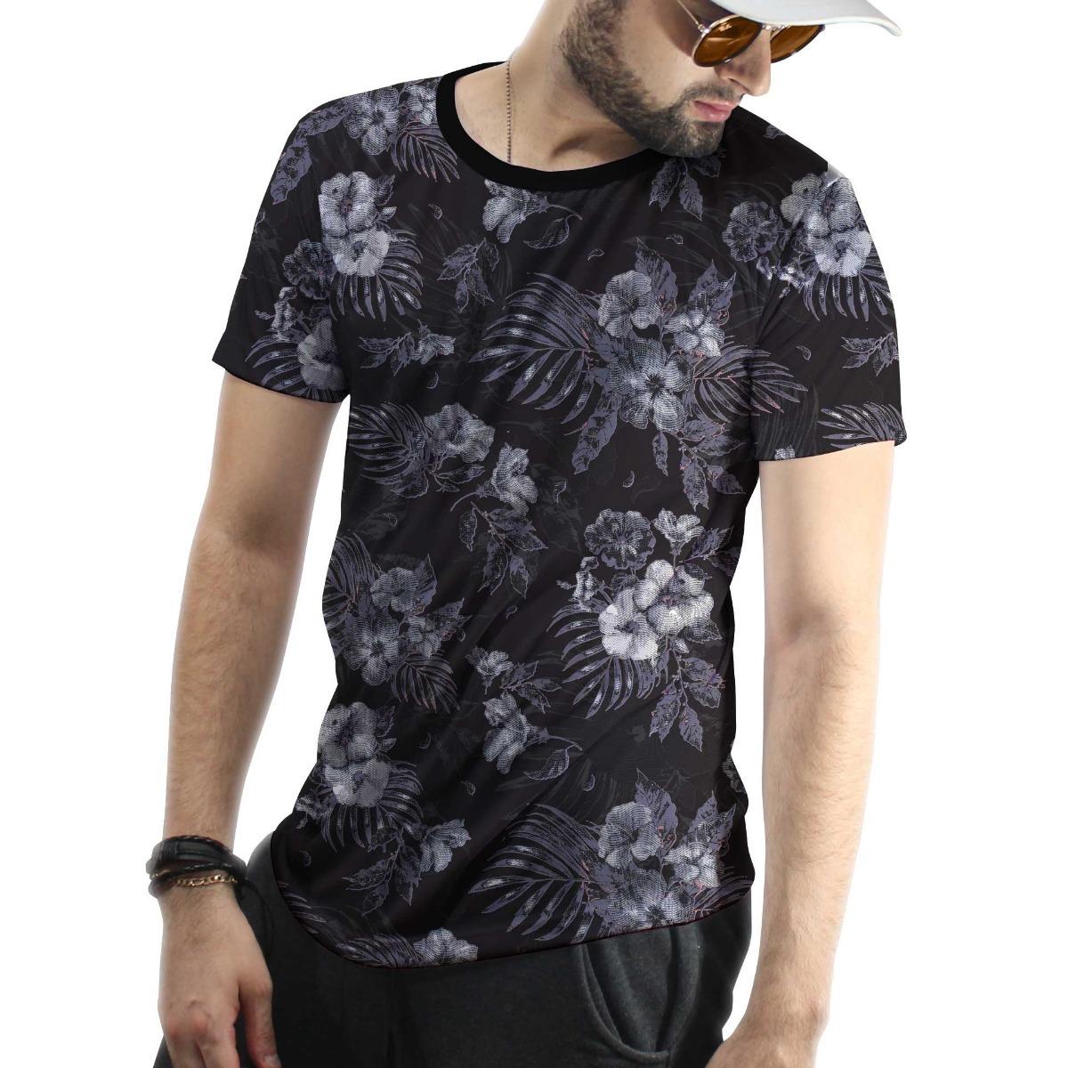5726391660 Camiseta Floral Masculina