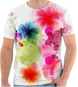1706f64d77 Camiseta Floral Feminina Maloqueira - Camisetas Manga Curta para Masculino  no Mercado Livre Brasil