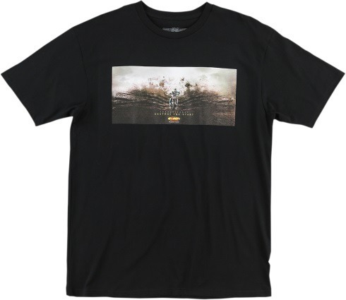 camiseta fmf racing destroy start masc. mangacurta preta 2xl