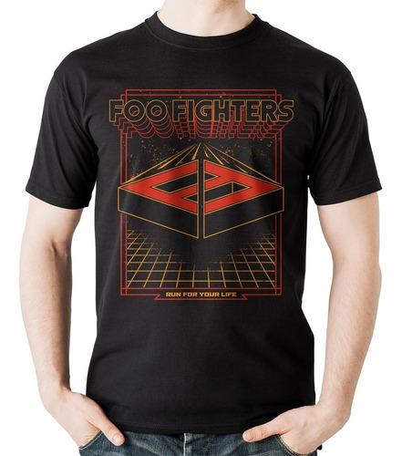 camiseta foo fighters run vintage arcade rock activity
