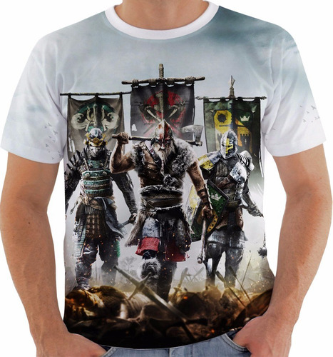 camiseta for honor - medieval - games - warriors m236