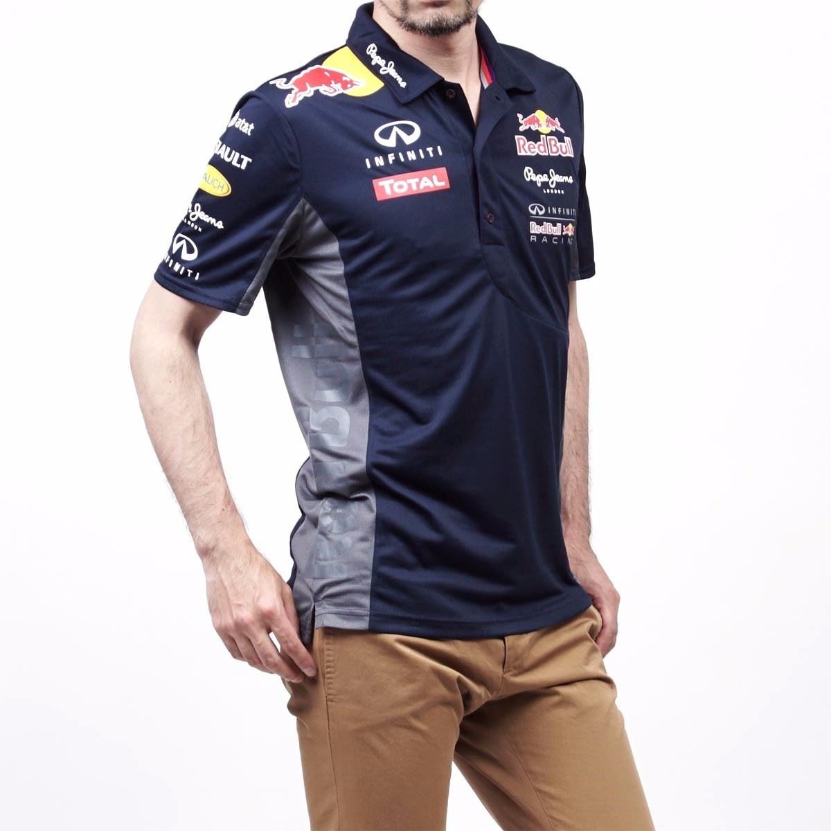 Red Bull Racing F1 Camisa Polo Oficial Infiniti Red Bull 53567260084