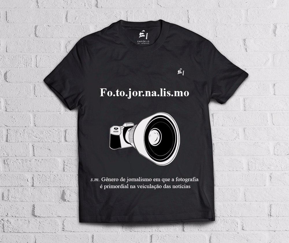camiseta fotojornalismo- empório da imprensa. Carregando zoom. fe53f99f9633b