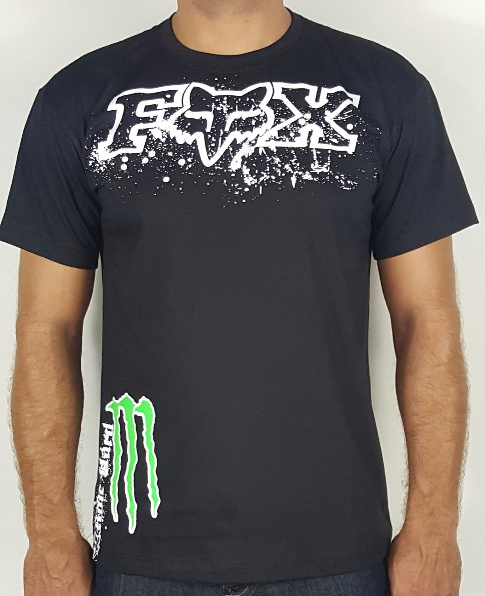 camiseta fox monster motocross racing. Carregando zoom. bc68a847fcb