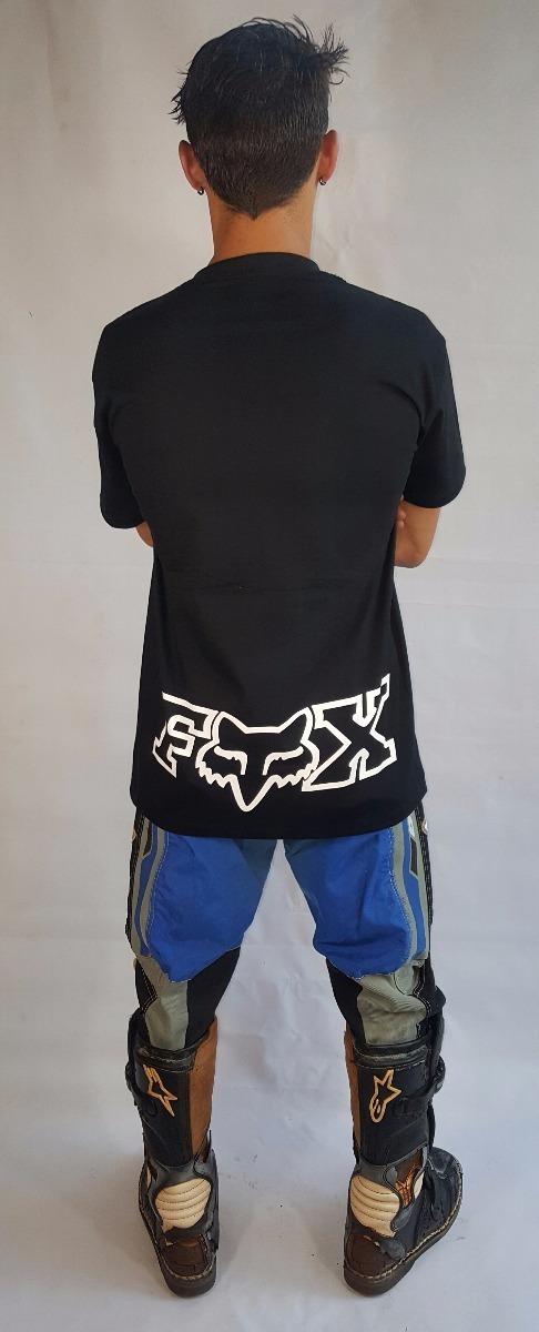 camiseta fox racing motocross preta e marinho - ref 114. Carregando zoom. dd77c6707ca