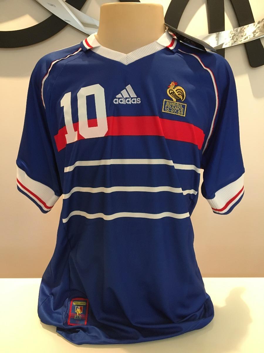 6a1849bd4a camiseta frança -  10 zidane - final copa do mundo 1998. Carregando zoom.