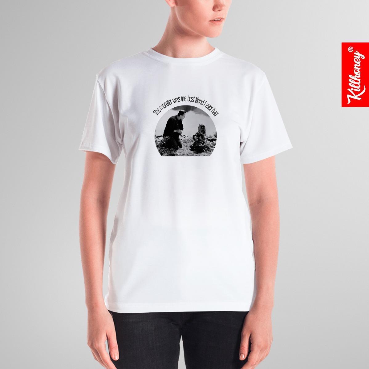507febb19 Camiseta Frankenstein - The Monster Was The Best Friend - R  39