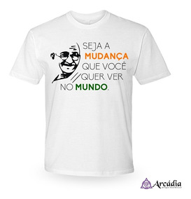90cb74058832 Camiseta Gandhi Tamanho Gg - Camisetas Masculinas GG Curta com o ...
