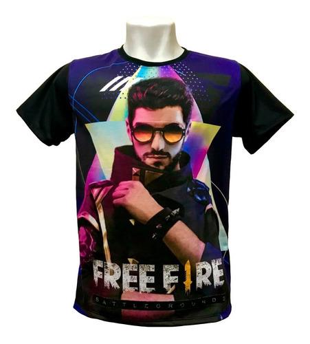 camiseta free fire - alok (estampa 2)