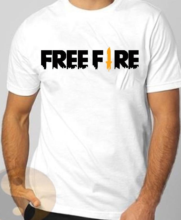 Camiseta Free Fire Game Jogo T-shirt Masculina Algodão Grife - R  39 ... ffd122f4971