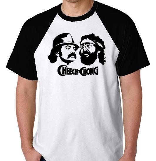 4fdb1ae0e Camiseta + Frete Raglan Blusa Camisa Cheech Chong Maconha - R  77