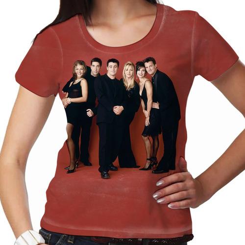 camiseta friends red feminina