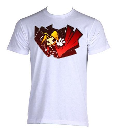 camiseta fullmetal alchemist anime edward brotherhood 08