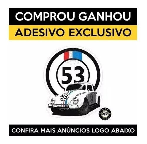 camiseta fusca 53 herbie vw volkswagen + adesivo exclusivo
