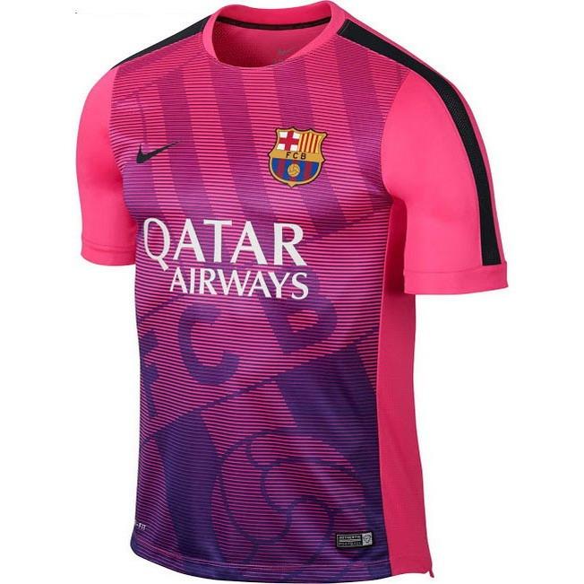 21e74a7b1909c Camiseta Futbol Barcelona Fc Rosa Nike Original 2015 2016 -   1.400 ...