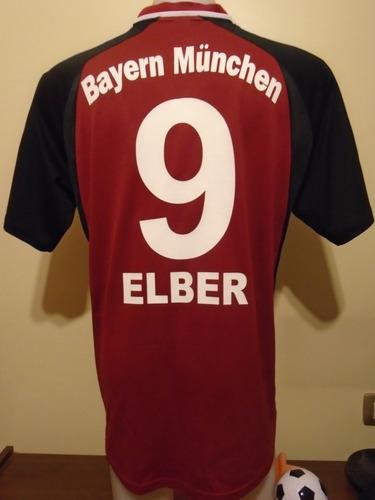 camiseta fútbol bayern munich alemania 2001 2002 elber #9 l