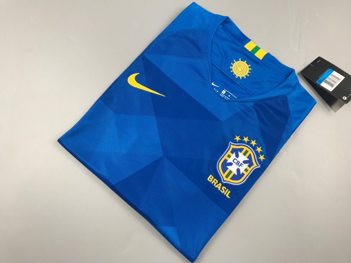 baa88351b9339 Camiseta Fútbol Brasil 2018 Nuevas De Visita Azul Xl -   23.500 en ...