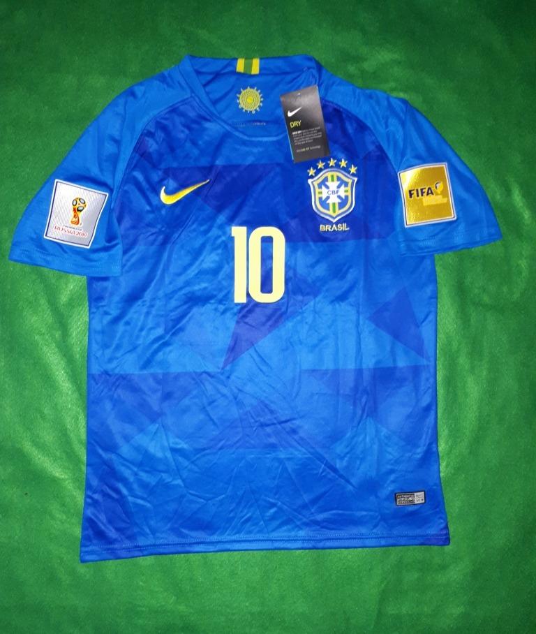 46196764a393a Camiseta Fútbol Brasil Away 10 Neymar Jr Nike -   20.000 en Mercado ...