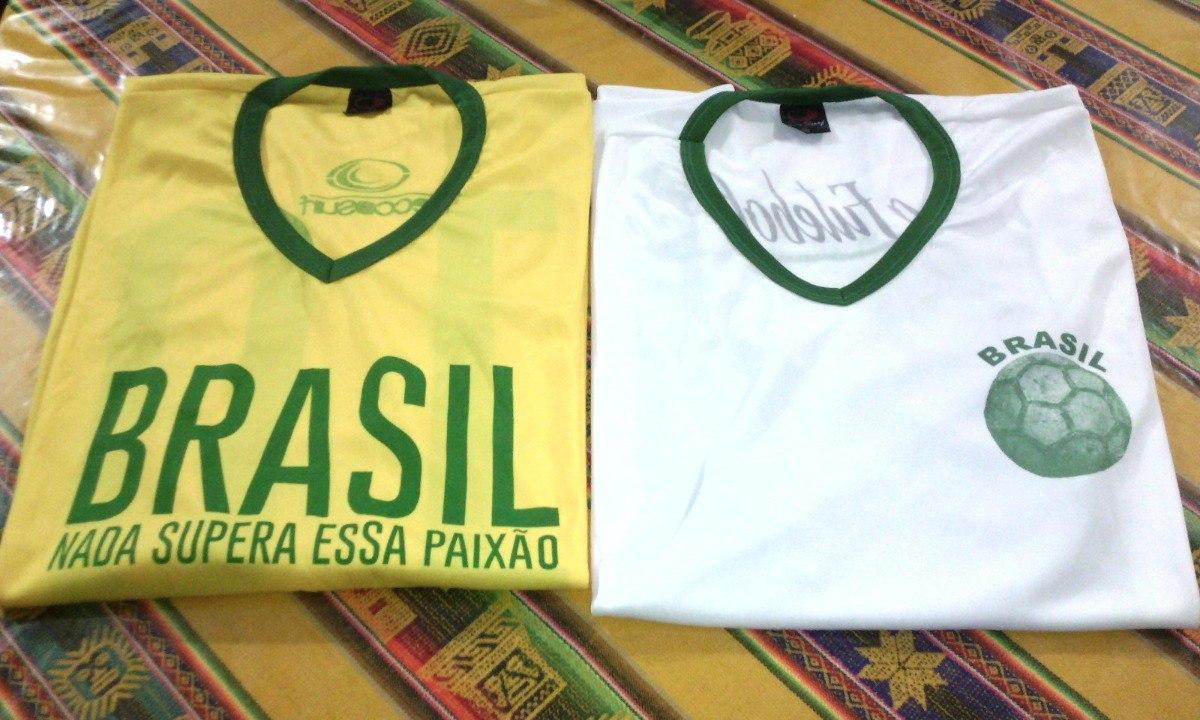 3fb535625bd5c Camiseta Futbol Brasil