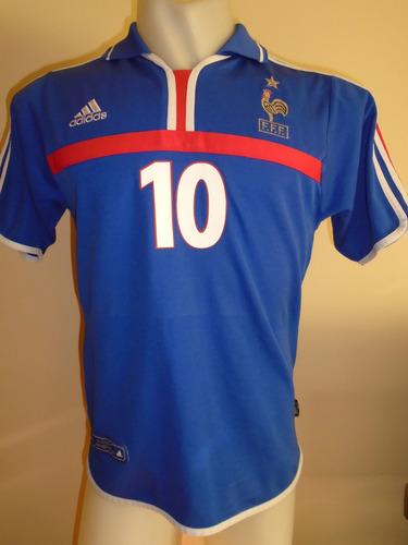 camiseta fútbol francia zidane #10 euro 2000 holanda bélgica