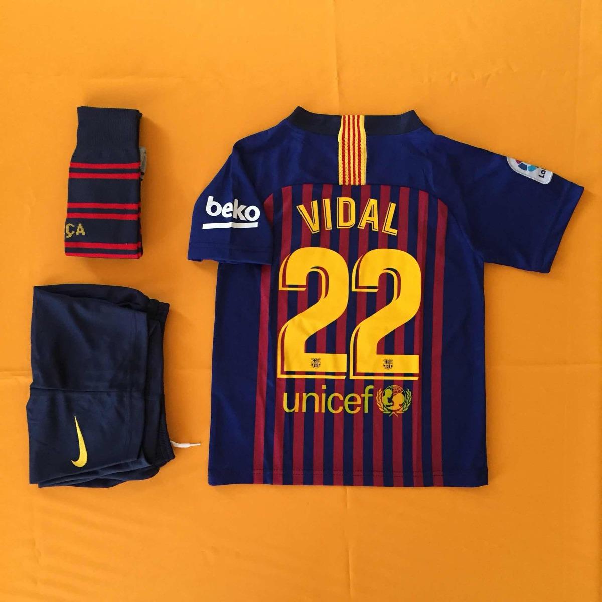 Camiseta Fútbol Niño Barcelona 2019 18 - Arturo Vidal -   24.990 en ... 2a79f436511
