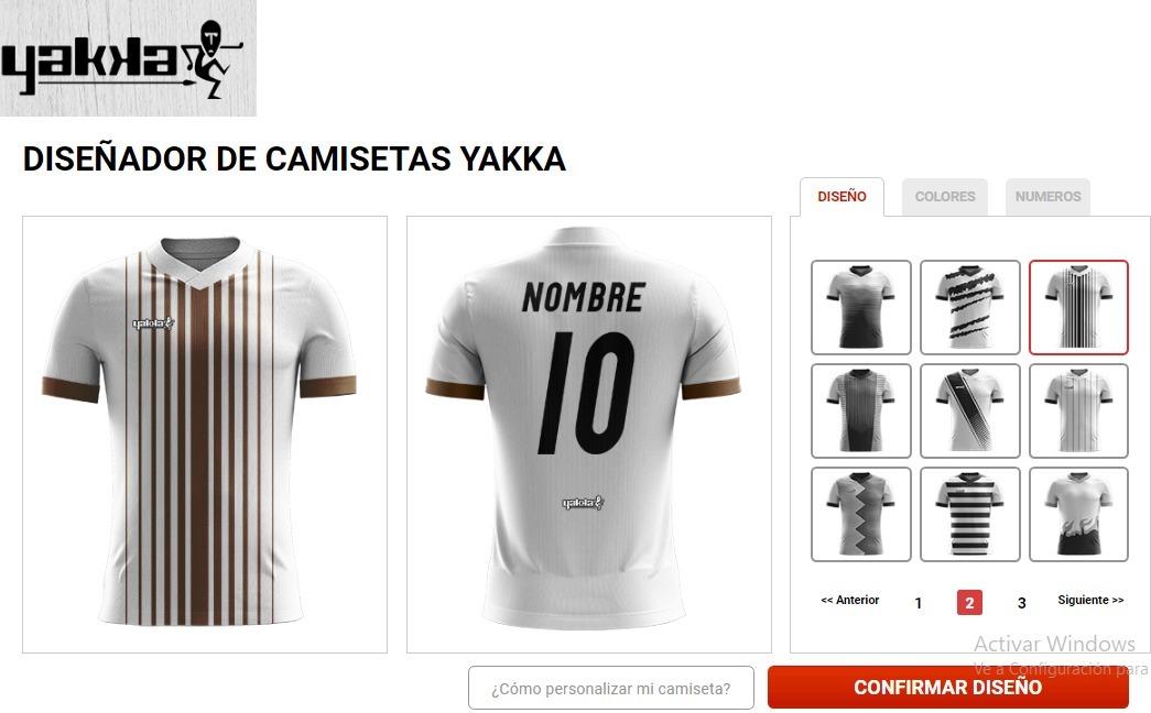 camiseta futbol personalizada yakka nombre escudo. Cargando zoom. f7c1375f81c3a