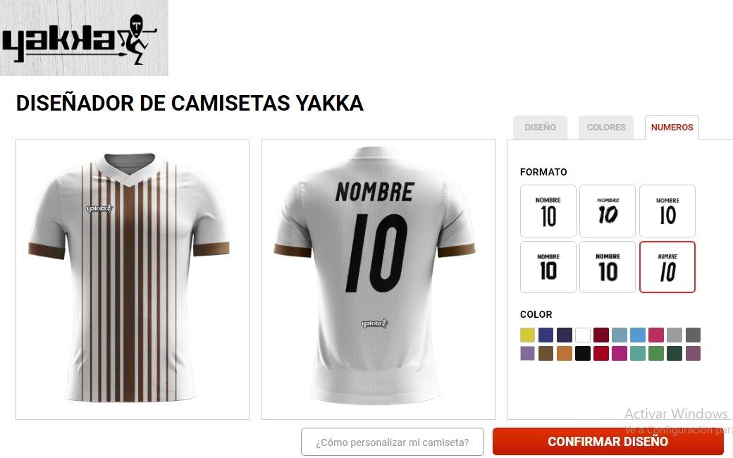 camiseta futbol personalizada yakka nombre escudo. Cargando zoom. 92eeb4be2dd0d