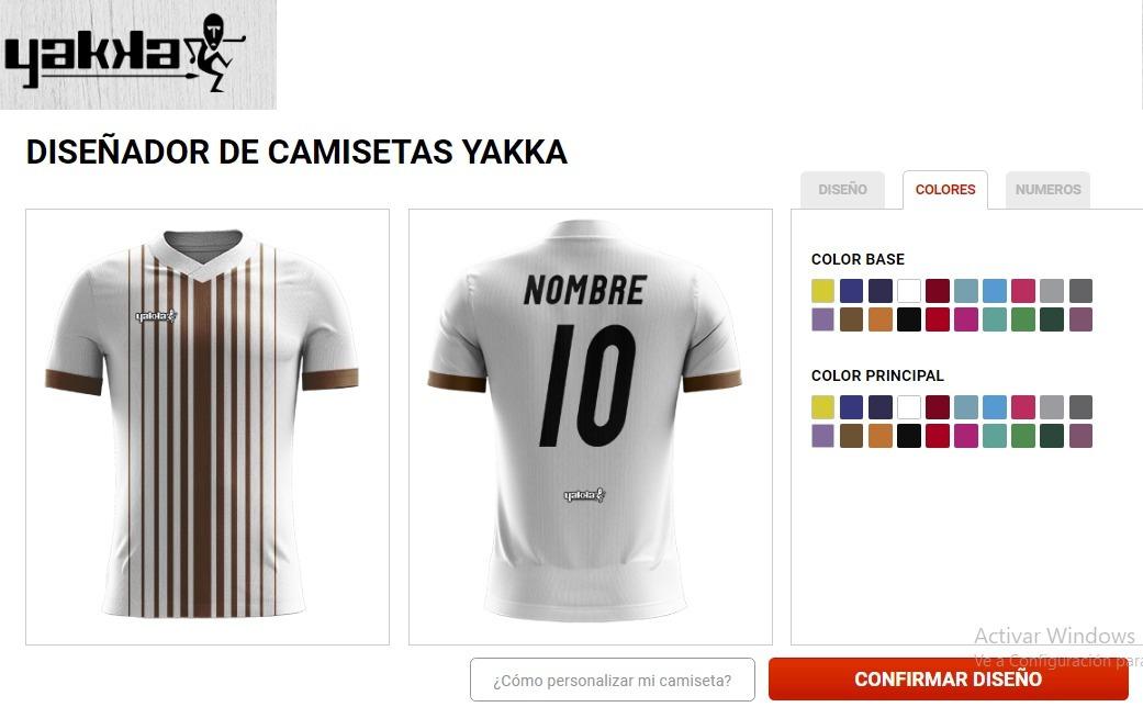 camiseta futbol personalizada yakka nombre escudo. Cargando zoom. 1932148f81edc