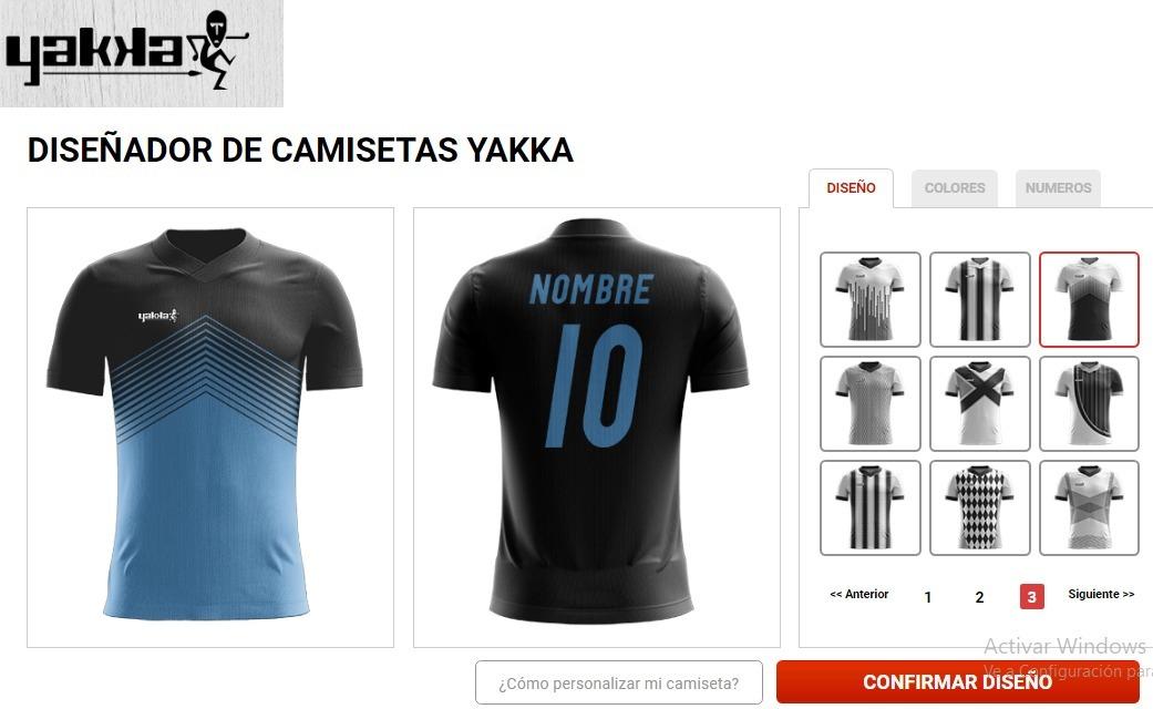 71b2dbab561b8 Camiseta Futbol Personalizada Yakka Numero Y Nombre -   720
