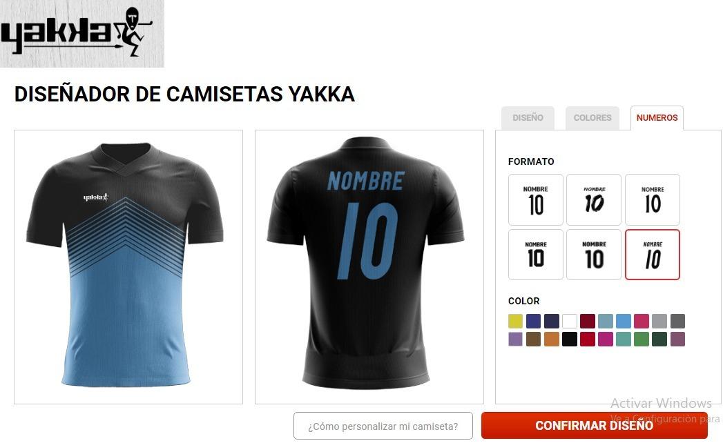 68a9daf1d2a76 camiseta futbol personalizada yakka numero y nombre. Cargando zoom.