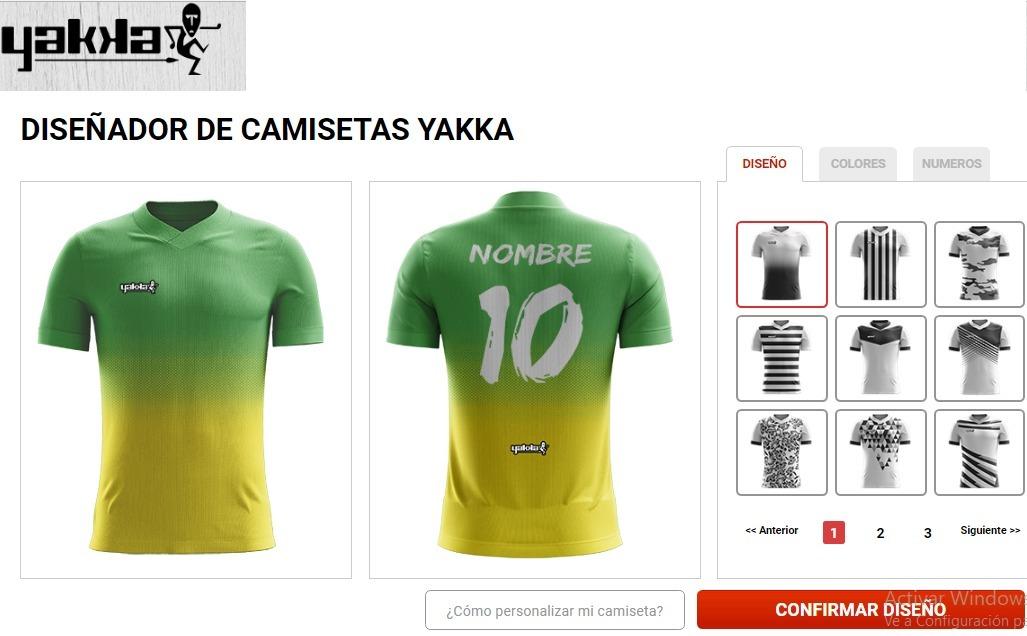 camiseta futbol personalizada yakka short hombre pack 8. Cargando zoom. e70de51267ce2