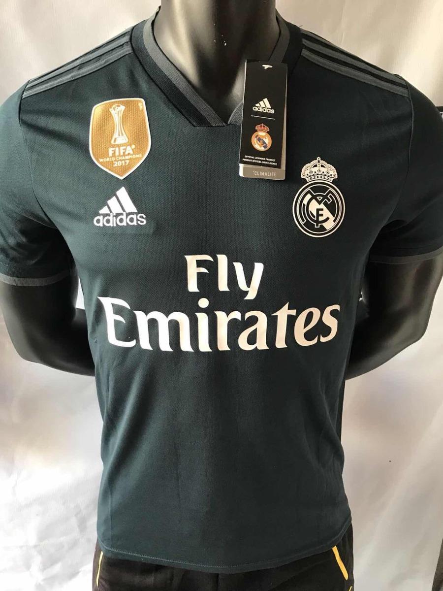 be5be10ab4b86 camiseta fútbol real madrid 2018 2019 visita negra nuevas. Cargando zoom.