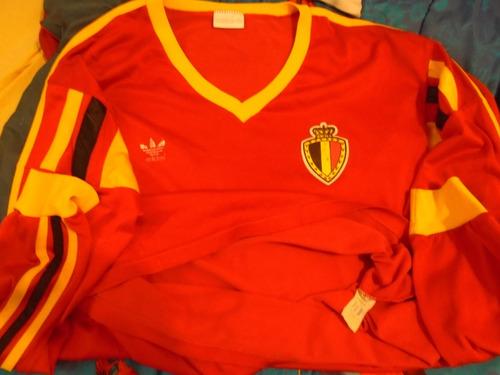 camiseta fútbol selección bélgica adidas mundial italia 90 l