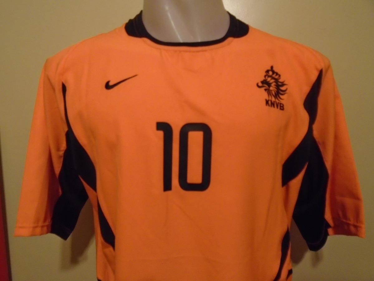 Camiseta Fútbol Selección Holanda Nike 2002 2004 Kluivert 10 ... 71d6780d7587f