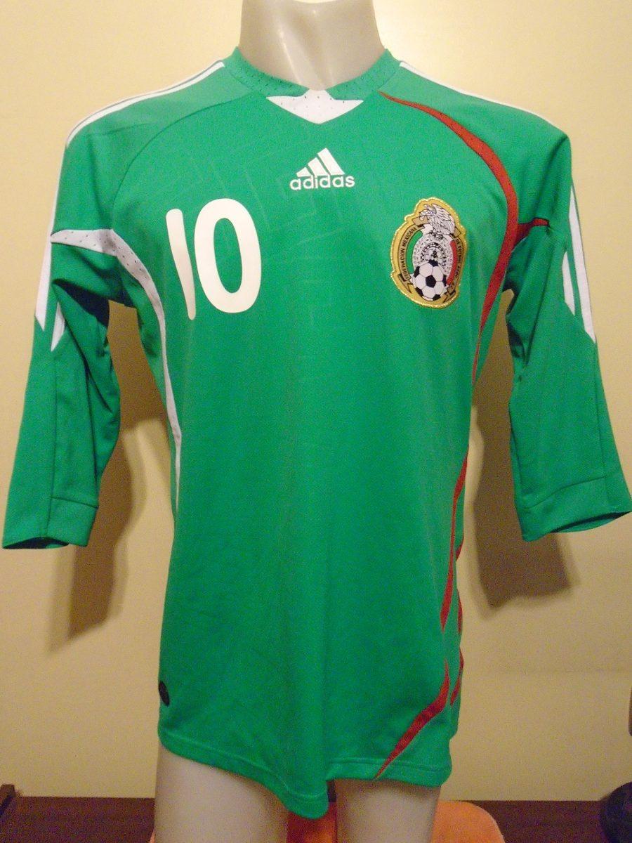 Camiseta Fútbol Selección México 2008 2009 C. Blanco #10 T.m ...
