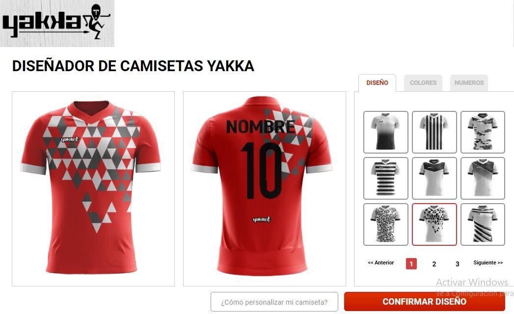 camiseta futbol sublimada yakka diseña pedido nombre numerad. Cargando zoom. b17884940a764