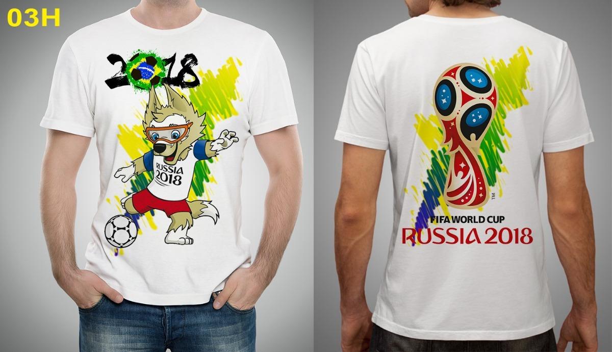 4ee10c69c Camiseta Futebol Copa Do Mundo Fifa Brasil Russia 2018 - R  39