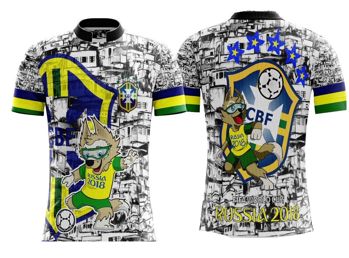 camiseta futebol seleção brasileira favela brasil copa 2018. Carregando zoom . 6e23ff2cd723b