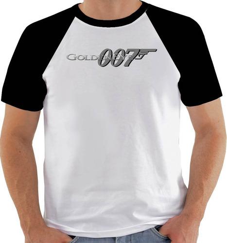 camiseta game golden eye 007 - pb