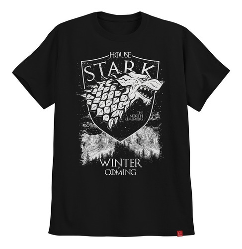camiseta game of thrones casa stark winter is coming north