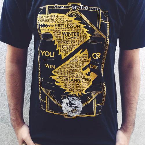 camiseta game of thrones - masculina - p,m e g