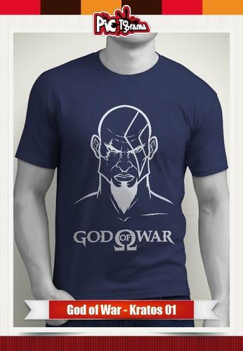 camiseta games - god of war - kratos - videojuegos