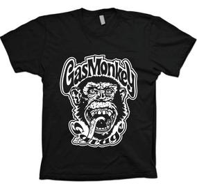 c3b8175e2 Camiseta Gas Monkey Garage Cinza - Camisetas no Mercado Livre Brasil